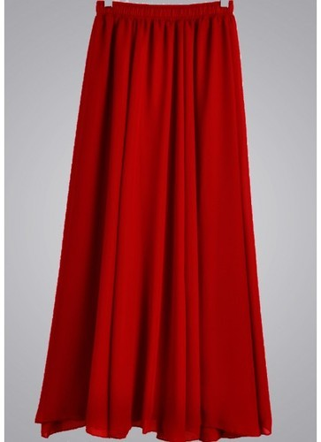 0bfefebc06 Red Georgette Floor Touch Plain Skirt at Rs 599 /piece ...