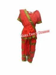 Kids Bharatnatyam Costume-Red