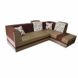 Cotton L Shape Designer Sofa Set, Back Style: Cushion back