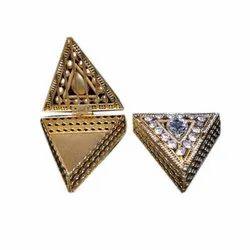 Traingle Triangle Brass Jewellery Box
