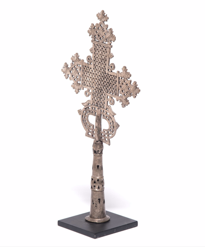 Processional Cross Copper Casting Silver Plating
