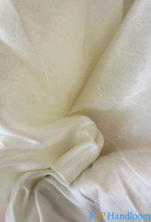 White Tussah Silk Fabric
