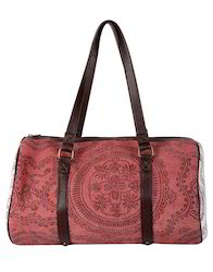 Genera Marsala Cotton Durrie Large Travel Duffel Bag