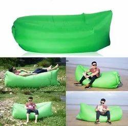 Parachute fabric material Multicolor Camping Inflatable Lounger Sofa, Multi purpose