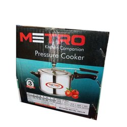 Aluminium Metro Kitchen Pressure Cooker, Packaging Type: Box