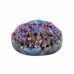 Natural Rainbow Titanium Druzy Solar Quartz Gemstones