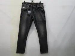 Mens Black Colour Straight Fit Stretch Denim(PW-023)
