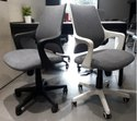 Oblique Workstation/Visitor/Staff/Conference Fabric Mesh Revolving Chair