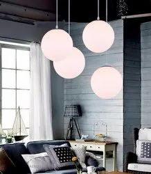 Glass Hanging Lamp.