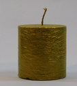 Textured Golden Pillar Candle