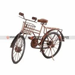 Woavin Studio Painted Handcrafted Iron Antique Finish Cycle, For Decor