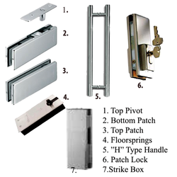 Ozone Glass Patch Fittings
