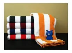 Multicolor Stripped Cabana Towel, Rectangle, 450-550 GSM