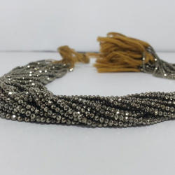 Natural 2mm Pyrite Micro Faceted Beads