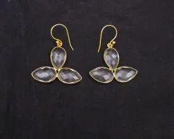 Crystal Quartz Gemstone Earring Set