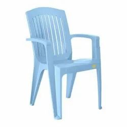 Decoplast Sky Blue Plastic Armrest Chair for Outdoor, Model Name/Number: Chairs 9004