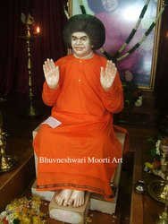 White Marble Satya Sai Baba Statue