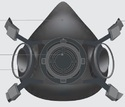 Venus Grey Hfdf Series-ace V-800 Half Mask Medium, 15025 For Pharma Industry