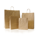 White Brown Paper Shopping Bags, Size: 39x7.5x39