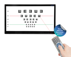 Optel LED Vision Chart with Laser Pointer Remote