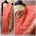 Plain Linen Saree