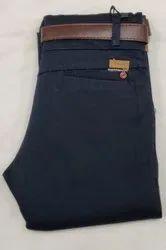 7-target Black Cotton Pants
