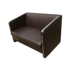 Brown 2 Seater Office Sofa Set