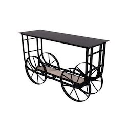 Trolley Coffee Table.Wheeled Trolley Coffee Table