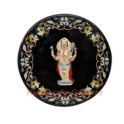 Marble Inlay Ganesh Table Top