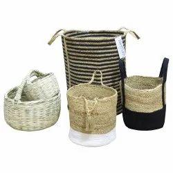 Custom Grocery Jute Baskets