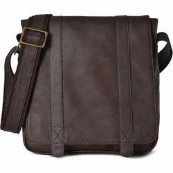 Brown Leather Shoulder Office Bag, Capacity: 8-15 Kg