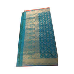 Varanasi Brocade Printed Saree, Length: 6.3 m