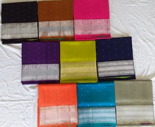 Soft Pure Silk Saree, 6.3 M (with Blouse Piece)