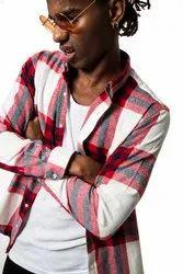 Check Full Sleeve Men Casual Cotton Shirt