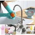 Silicon Dishwashing Scrubbing Gloves