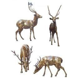 Deer Statue Set made in Brass Metal by Aakrati