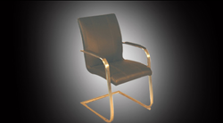 Dark Green Metal And Leather Chair 2205 (II)