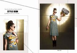 Amazing Looking Grey Color Printed Kurti
