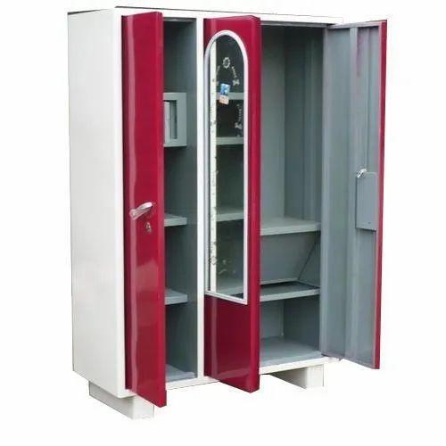 Sourabh Enterprises 3 Door Steel Almirah, Warranty: 1 Year