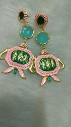 3d0124f55 Fancy Designer Earring - Meena Painted Earrings Manufacturer from Jaipur