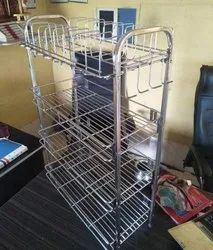 Mild Steel Silver Wire kitchen stand, For Home