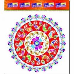 15 Inch Transparent Rangoli Sticker