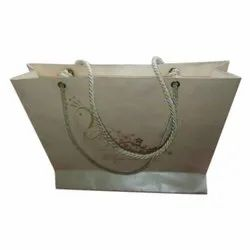 Craft Paper Cream Loop Handle Paper Carry Bag