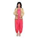 Jamavar Pink & Gold Designer Dhoti Salwar Set