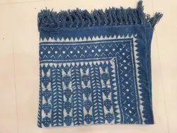 Printed Square Indian Pure Cotton Beautiful Print Dari Carpet, For Home