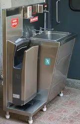 SS Manual Hygiene Portable Hand Wash Station