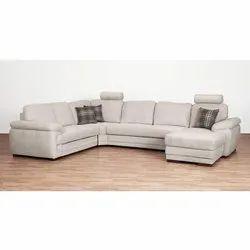 Leather U Shaped Sofa Set