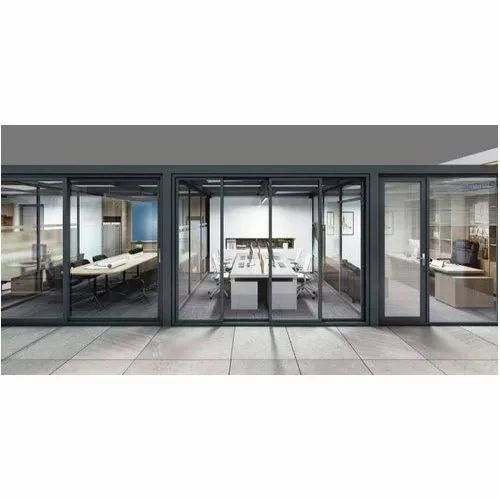 Transparent Office Front Door Glass