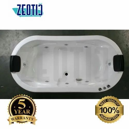 Zeotic Oliver 6x3x2 / 72x36x24 Rectangular Oval Jacuzzi Acrylic Massage Bathtub Air Jetted Bubble