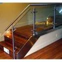Ss, Glass Tempered Stanless Steel Glass Railing, For Home